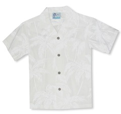 Palm Trees Boy's white shirt