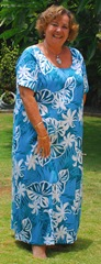 Tiare Monstera 100% Plus Size Rayon Dress