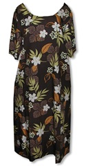 chocolate summer Plus Size Dress