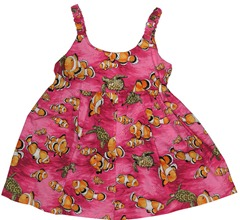 Girl's Tropical Fish Hawaiian Aloha Dress