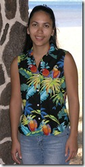 Jungle Parrots Ladies Hawaiian Aloha Blouse