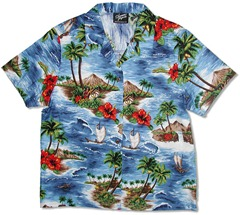 red hibiscus island women's shirt