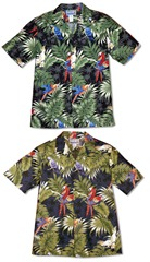 parrots monstera-mens