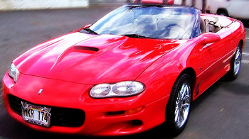 2002 Red Camaro SS for sale