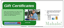 Do not know what to get?  Buy a gift certificate instead!
