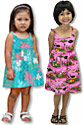 Hawaiian bungee dresses for girls