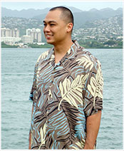 Tropical Ferns Mens Shirt
