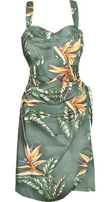 Bird of Paradise Sarong Dress