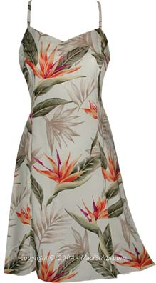 Bird of Paradise Hawaiian Sun Dress