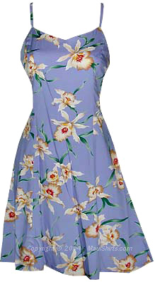 Star Orchid Hawaiian Sun Dress