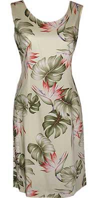 Monstera Hawaiian Short Tank Dress