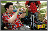 Adam Richman, the star of Man V. Food is shown here wearing a Red Jungle Bird  shirt